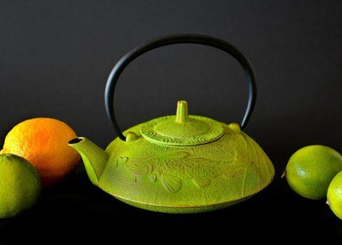 Kanne für Tee, Teekanne aus Gusseisen.