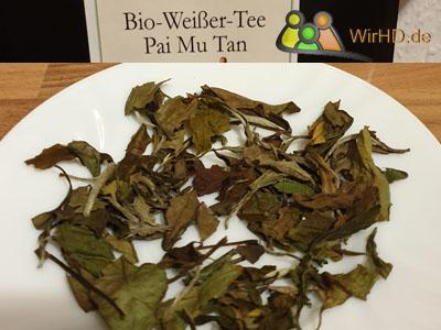 Weißer Tee, Pai Mu Tan, Teeblätter.