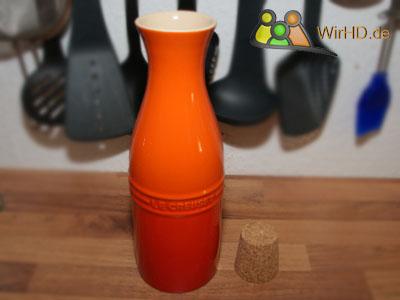 Wasserkaraffe, Lecreuset Steinzeug Karaffe