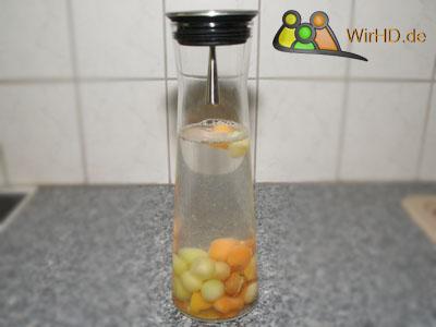 Produzieren von einfachen Melonen Wasser Schritt 7