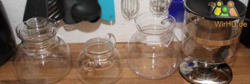 Teekannen Schöne Teekannen aus Glas.
