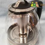 Teekocher aus Glas m. Logo