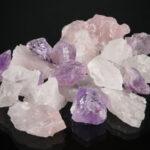 Wasser Energetisieren mit Rosenquarz , Bergkristall und Amethyst