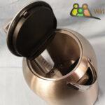 Verdeckte Heizspirale des Wasserkochers mit Temperatureinstellung