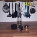 WMF Basic Wasserkaraffe, Basic Karaffe Zerlegt, Einzelteile WMF, Deckel, Sieb, Glas.