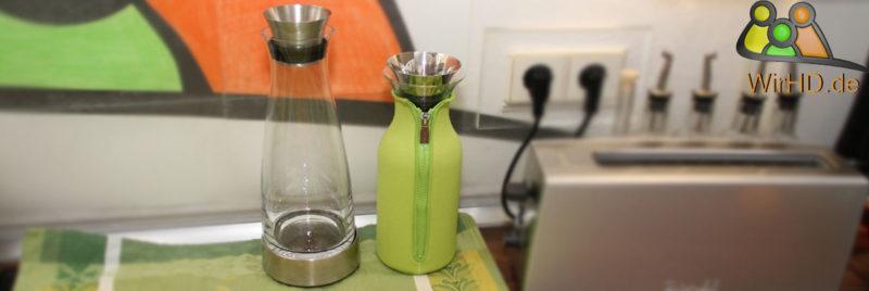 Wasserkaraffe mit Kühlung.