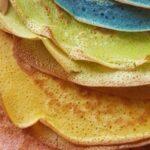 Pfannkuchen in Verschiedenen Farben.