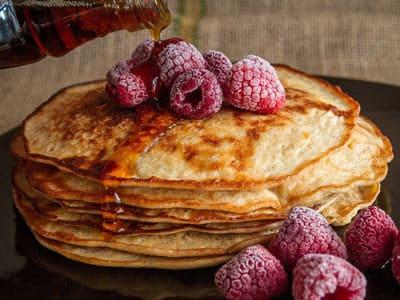 Pfannkuchen können auch eine ganze Hauptspeise sein.