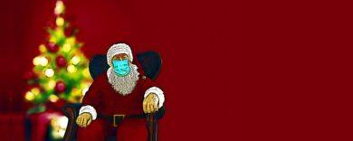 Corona-Masken an Weihnachten
