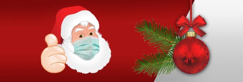 Corona-Masken zur Weihnachtszeit, Mundschutz Weihnachten