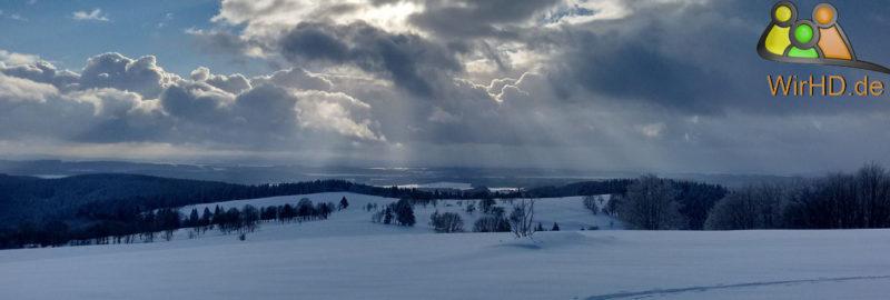 Mundschutz mit Wintermotiven, Winterlandschaft.
