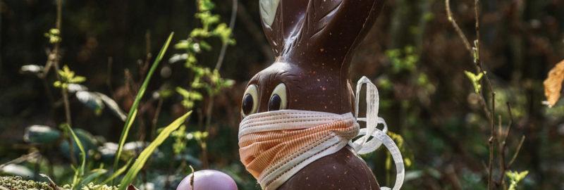 Schönen Mundschutz nicht nur zu Ostern.