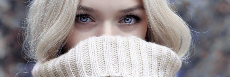 Mundschutz passend zum Winter