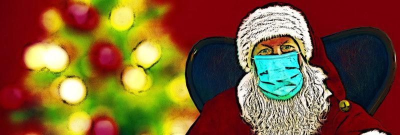 Weihnachts-Masken gegen Corona.