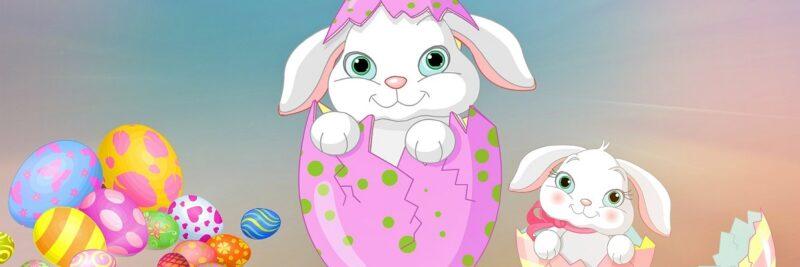 Häschen-Mundschutz passend zu Ostern, Oster-Mundschutz, Mund-Nasen-Masken mit süßen Ostermotiven, Maske online kaufen, Mund-Nasen-Bedeckung bestellen, Ostermontag, Ostersonntag, Osterfest.