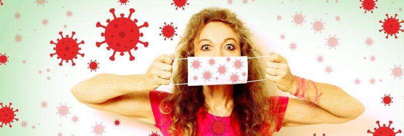 Mundschutz für Damen.