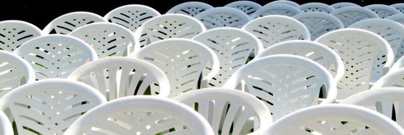 Gartenstühle aus Kunststoff, Stühle aus Plastik