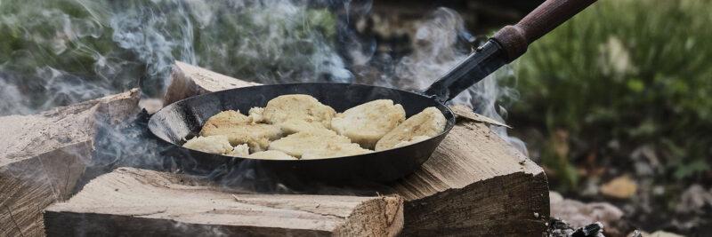 Grillpfanne in Rund, Grillpfanne in rund für Induktion, Kleine oder große Grillpfanne aus Gusseisen
