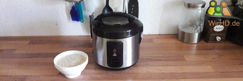 Reiskocher mit 1 Liter Fassungsvermögen.
