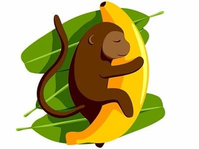 Orgasmus auslösen, Bananen für Affen, Banane mit Genuss, Essen, Nahrung von Schimpansen.